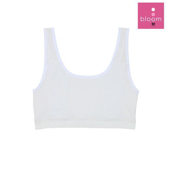 Wacoal Bloom Step 2 รุ่น WH6J01 เสื้อบังทรงตัวสั้น แบบเรียบ สีขาว (WH)