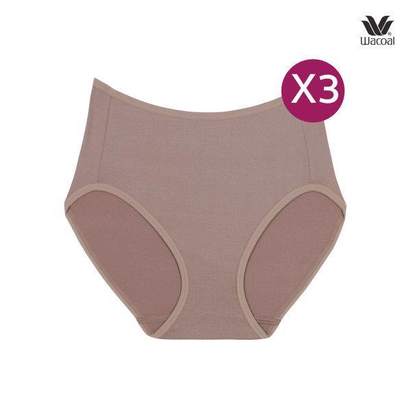 Wacoal Short Panty กางเกงในรูปแบบเต็มตัว เซ็ต 3 ชิ้น รุ่น WU4987 ชิ้น สีโอวัลติน (OT)