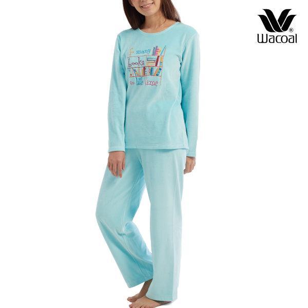 Wacoal Nightwear ชุดนอนวาโก้ รุ่น WV1683 สีฟ้าอมเขียว (TU)