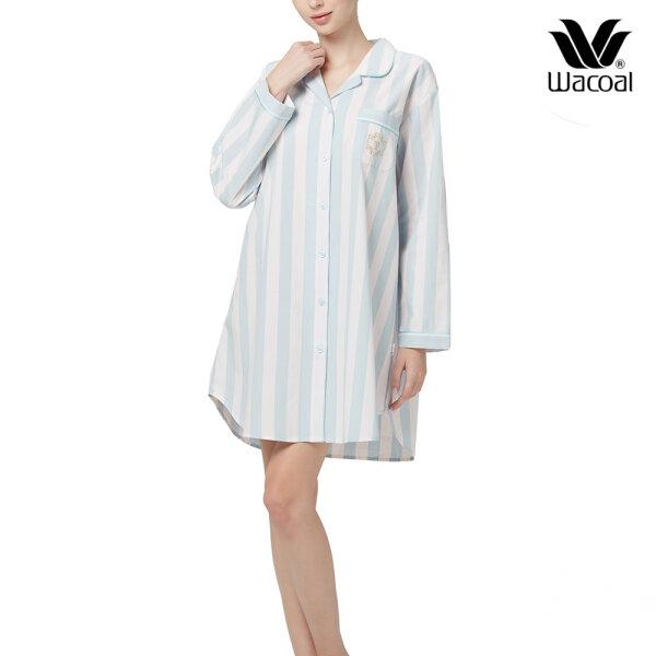 Wacoal Night Wear TEEBAZA Collection ชุดนอนวาโก้ รุ่น WV8M05 (SX) สีฟ้า