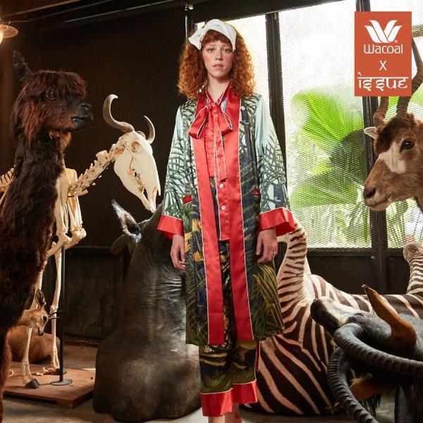 WACOAL x ISSUE Nightwear collection รุ่น WN4D01 สีแดง (RD)
