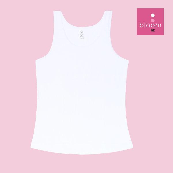 Wacoal Bloom Step 1 รุ่น WH6B94 เสื้อกล้ามตัวยาว แบบเรียบ สีขาว (WH)