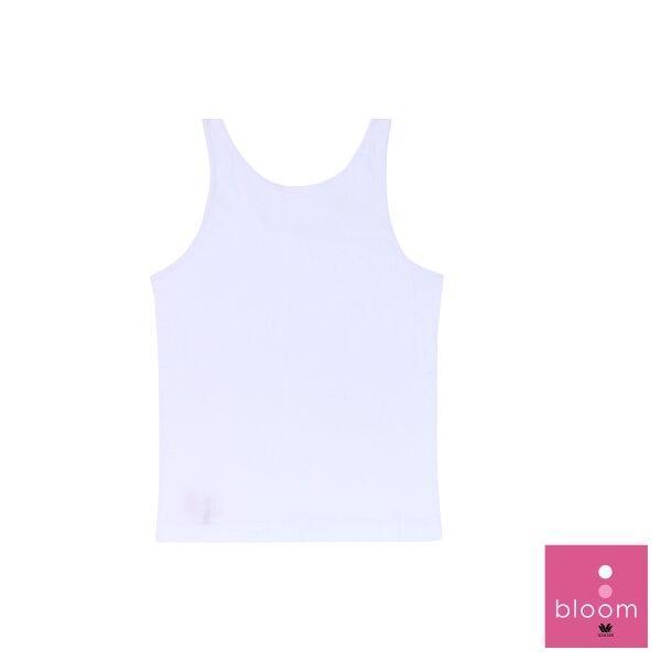 วาโก้ บราสำหรับเด็ก (Wacoal Bloom) Step 1 รุ่น WH6V08 เสื้อกล้ามตัวยาว สีขาว (WH)