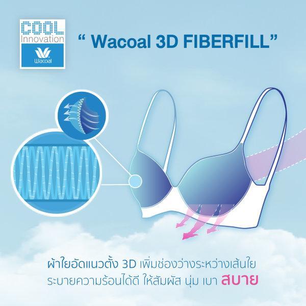 วาโก้ บราเก็บกระชับ เย็นที่สุดทุกคัพ Wacoal Cool Bra รุ่น WB7930 สีน้ำเงิน (BU)