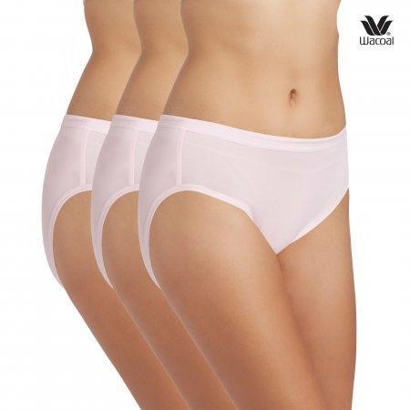 Wacoal Bikini Panty Set 3 ชิ้น รุ่น WU1M01,WQ6M01 สีชมพูดอกคาร์เนชั่น (CP)