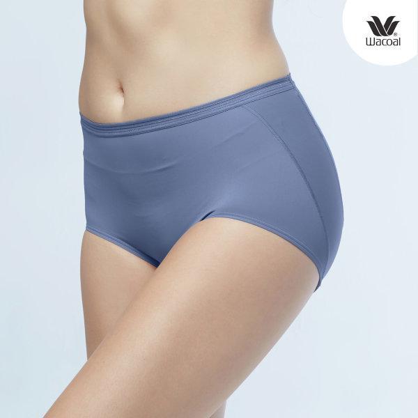 วาโก้ กางเกงในไม่เข้าวิน (Wacoal U-Fit Short Panty) Set 2 ชิ้น รุ่น WU4937 สีเทาออกน้ำเงิน (NG)
