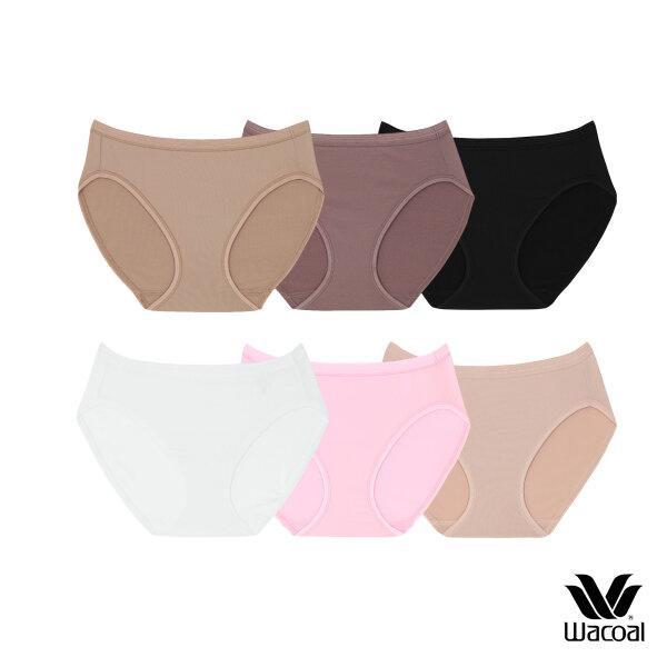วาโก้ กางเกงใน บิกีนี (Wacoal Value Pack Bikini Panty)  รุ่น WU1M29,WQ6M29 Set 6 ชิ้น สีดำ (BL),สีชมพูดอกคาร์เนชั่น (CP)