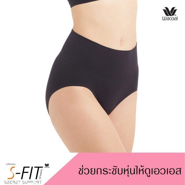 Wacoal Panty Secret Support : Short รุ่น WU4M17 Set 2 ชิ้น สีดำ (BL)