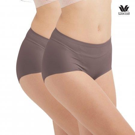 หน้าท้องยื่น ช่วยกระชับได้ เลือกใส่ H-Fit Wacoal Panty Secret Support : รุ่น H-fit WU4873 Set 2 ชิ้น สีน้ำตาลไหม้ (BT) รูปแบบ Short