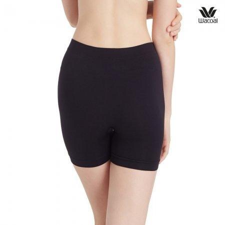 Wacoal Hot pant Feminine Protection Panty Set 2 ชิ้น รุ่น WU8503 สีดำ (BL),สีโอวัลติน (OT)