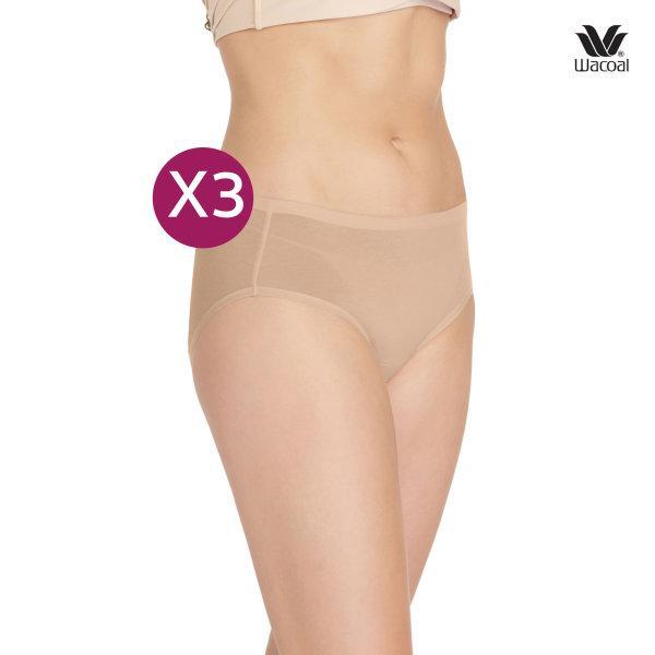 Wacoal Half Panty กางเกงในรูปแบบครึ่งตัว เซ็ต 3 ชิ้น รุ่น WU3722 สีโอวัลติน (OT)