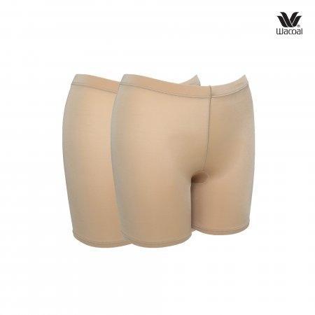 กางเกงในขาสั้นกันโป๊ Wacoal Panty Feminine Protection : รุ่น Hot Pants WU4828 Set 2 ชิ้น สีโอวัลติน (OT)
