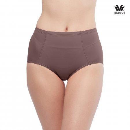 หน้าท้องยื่น ช่วยกระชับได้ เลือกใส่ H-Fit Wacoal Panty Secret Support : รุ่น H-fit WU4836 Set 2 ชิ้น สีน้ำตาลไหม้ (BT) รูปแบบ Short