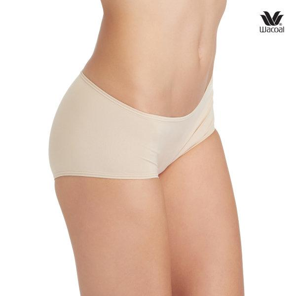 Wacoal Boyleg Low Rise V-Cut Panty Set 3 ชิ้น รุ่น WU8458 สีเบจ (BE)