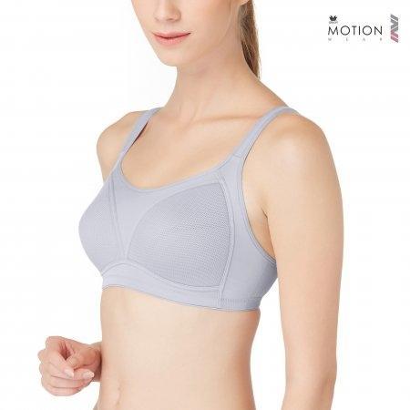 วาโก้ บราสำหรับออกกำลังกาย คัพ A-E ไซซ์ 85-90 Wacoal Motion Wear Bra รุ่น WR1486 สีเทา (GY)
