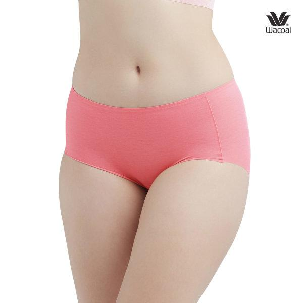 Wacoal Feel Free  Short Panty Set 2 ชิ้น รุ่น WU4929 สีชมพูอมส้ม (RO)