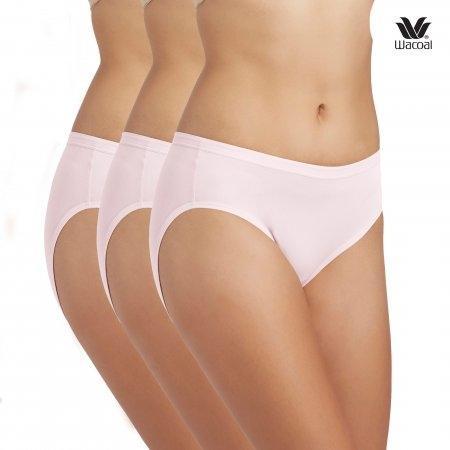 Wacoal Bikini Panty Set 3 ชิ้น รุ่น WQ6M01 สีชมพูดอกคาร์เนชั่น (CP)