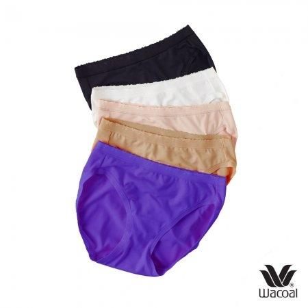 Wacoal Panty Set 5 ชิ้น รุ่น WU3887 สีเบจ-ดำ-ชมพู-โอวัลติน-ม่วง (BE-BL-CR-OT-PU)