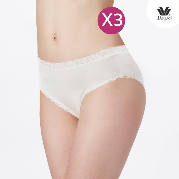 Wacoal Bikini Panty Set 3 ชิ้น รุ่น WU1M02 สีครีม (CR)