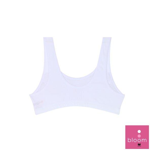 วาโก้ บราสำหรับเด็ก (Wacoal Bloom) Step 2 รุ่น WH6U08 เสื้อกล้ามครึ่งตัว สีขาว (WH)