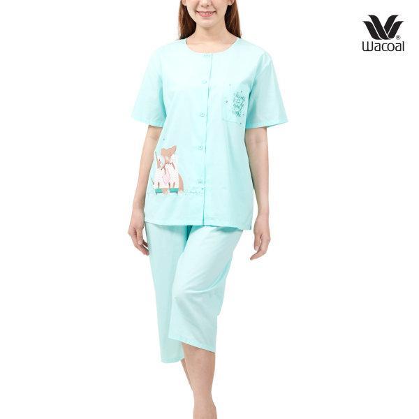 Wacoal Nightwear ชุดนอนวาโก้ รุ่น WV2L81 สีเขียวตอง (ME)