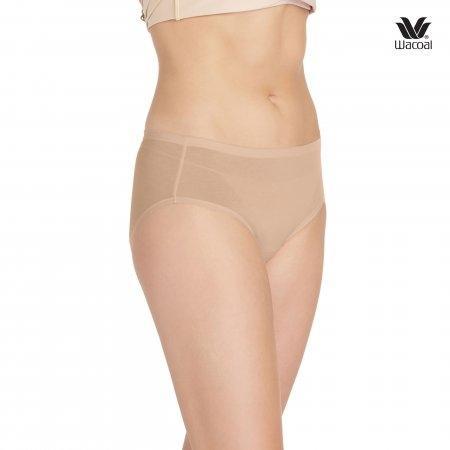 มีเส้นใยธรรมชาติ ไม่ระคายเคืองผิว Wacoal Panty Material Innovation : รุ่น Super soft Cotton WU3722 เซ็ต 3 ชิ้น สีโอวัลติน(OT) รูปแบบ Half