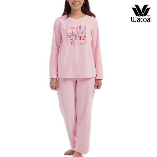 Wacoal Nightwear ชุดนอนวาโก้ รุ่น WV1683 สีชมพู (PI)