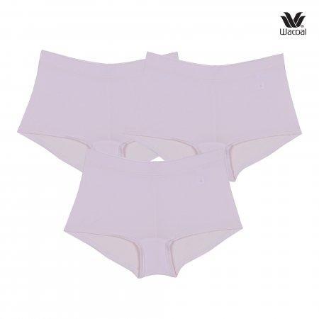 Wacoal Panty Tactel : Boyleg รุ่น WU8459 Set 3 ชิ้น สีชมพูอ่อน (LP)