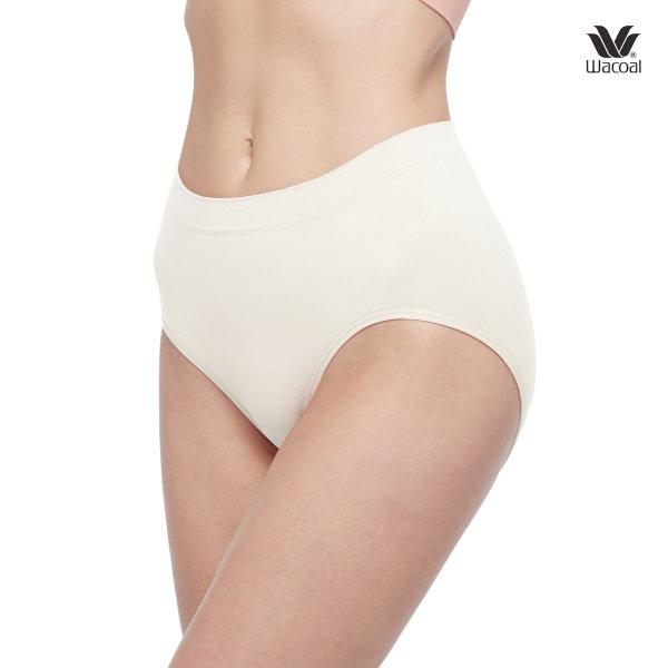Wacoal Body Seamless Half Panty Set 2 ชิ้น รุ่น WU3771 สีครีม (CR)