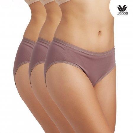 Wacoal Bikini Panty Set 3 ชิ้น รุ่น WQ6M01 สีน้ำตาลไหม้ (BT)