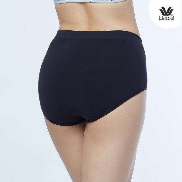 Wacoal Body Seamless Half Panty Set 2 ชิ้น รุ่น WU3771 สีดำ (BL)