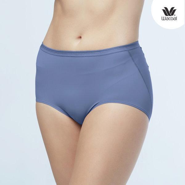 Wacoal U-Fit Short Panty Set 2 ชิ้น รุ่น WU4937 สีเทาออกน้ำเงิน (NG)