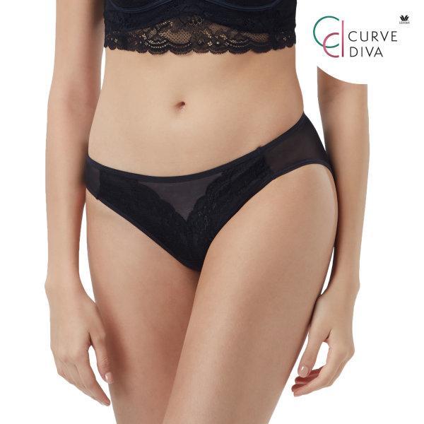 วาโก้ กางเกงในสาวไซซ์ใหญ่ Wacoal Curve Diva Panty รุ่น W67972 สีดำ (BL)