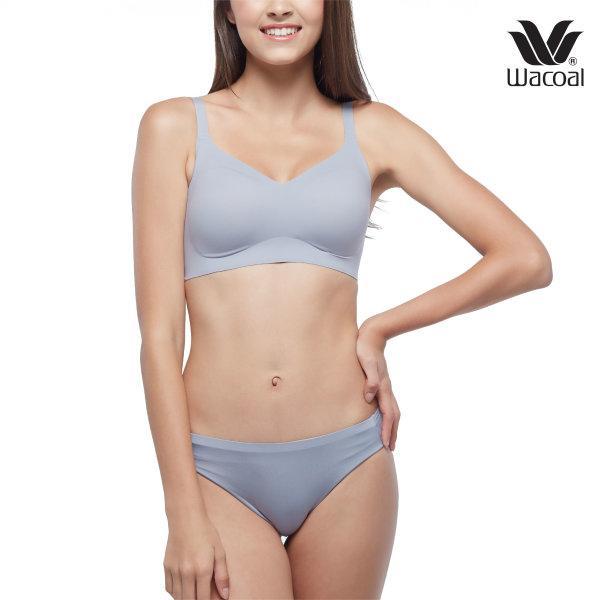 Wacoal Go Girls Smart Size รุ่น Set WB3Y12, W63A14 สีเทาสว่าง (GL)