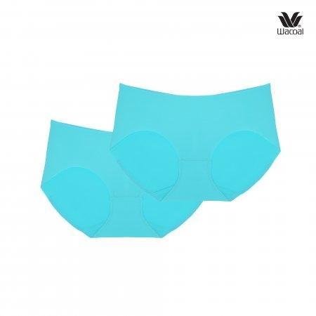 ขอบเอวเว้า เหมาะกับกางเกงเอวต่ำ Wacoal Panty Oh my nude : รุ่น Low Rise WU2873 Set 2 ชิ้น สีฟ้าอมเขียว (TU) รูปแบบ Bikini