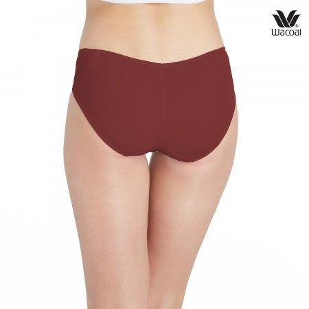 Wacoal Low Rise : V - Cut Panty Bikini Set 3 ชิ้น รุ่น WU2458 สีแดงเชอร์รี่ (CH)