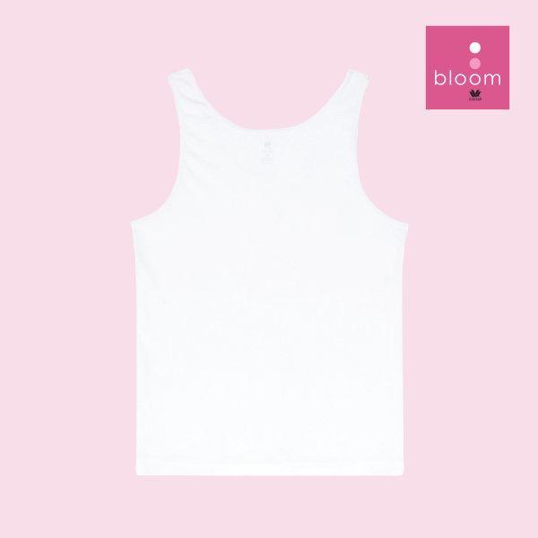 Wacoal Bloom Step 1 รุ่น WH6B88 เสื้อกล้ามตัวยาว แบบเรียบ สีขาว (WH)