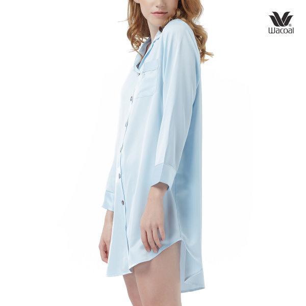 Wacoal Night Wear Summer Treasure Collection ชุดนอนวาโก้ รุ่น WN6C51 สีฟ้า (SX)