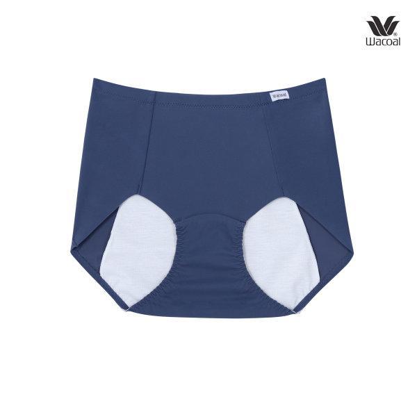 Wacoal New Hygieni Night Panty Set 2 ชิ้น รุ่น WU5901 สีเทาออกน้ำเงิน (NG)