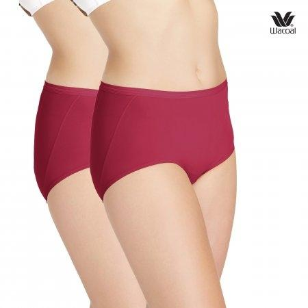 Wacoal U-Fit Short Panty Set 2 ชิ้น รุ่น WU4937 สีแดง (RE)