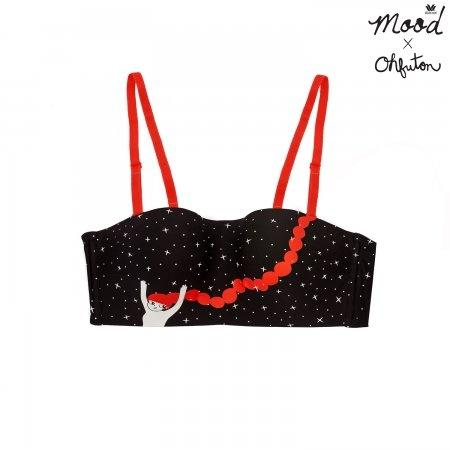 Wacoal Mood X OHFUTON Wireless Bra รุ่น MM1E47,MM6E47 สีดำ (BL)