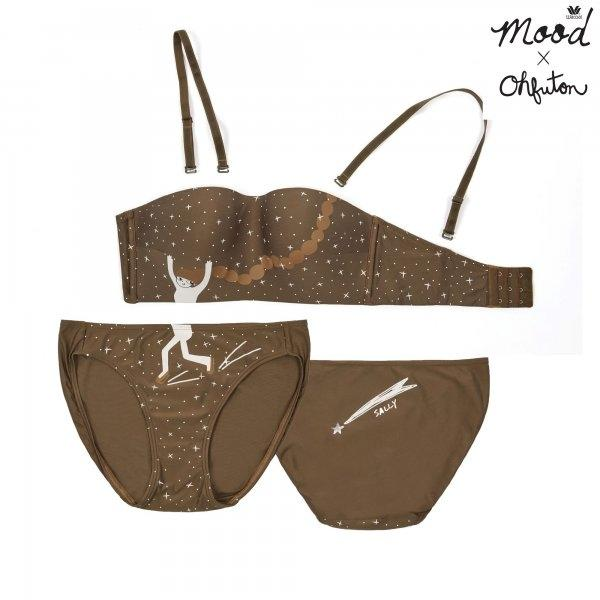 Wacoal Mood X OHFUTON Wireless Bra รุ่น Set MM1E47,MM6E47 สีเขียว (GR)
