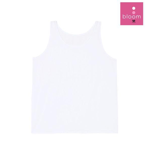 Wacoal Bloom Step 1 รุ่น WH6Q49  เสื้อบังทรงตัวยาว แบบเรียบ สีขาว (WH)