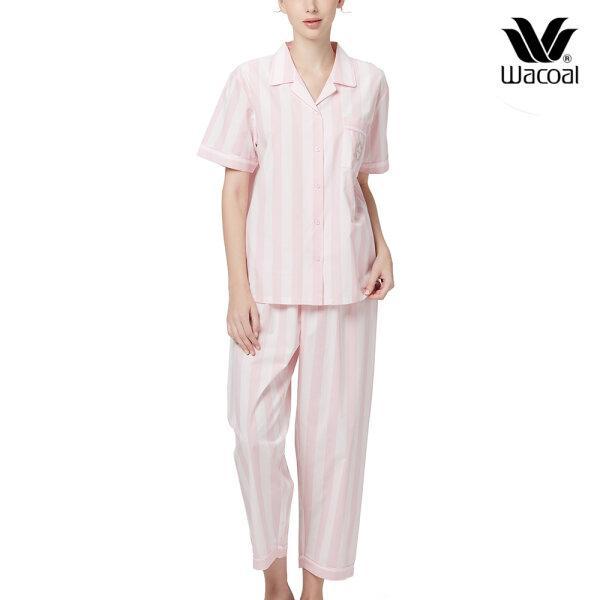 Wacoal Night Wear TEEBAZA Collection ชุดนอนวาโก้ รุ่น WV7M08 (PI) สีชมพู