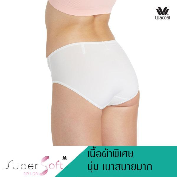 Wacoal Super Soft Panty Half Set 3 ชิ้น รุ่น WU3811 สีครีม(CR)