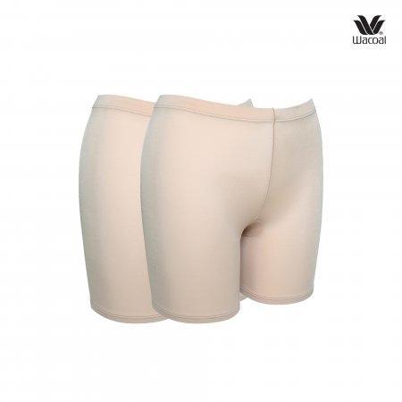 ใส่สั้น ไม่มั่นใจ เลือกใส่ Hot pant Wacoal Panty Feminine Protection : รุ่น Hot Pants WU4828 Set 2 ชิ้น สีเบจ (BE)