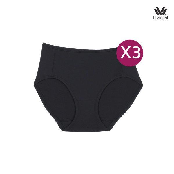 Wacoal Short Panty กางเกงในรูปแบบเต็มตัว เซ็ต 3 ชิ้น รุ่น WU4859 สีดำ (BL)