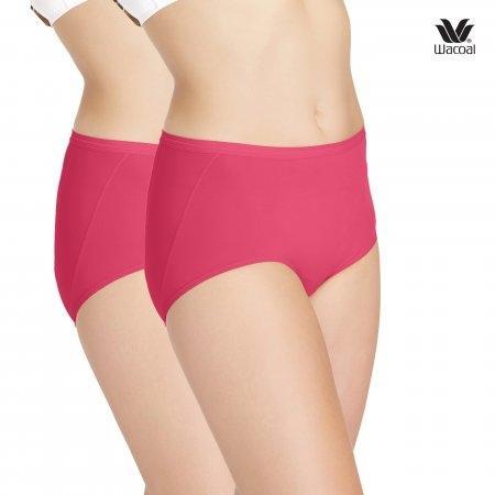 ช่วยกระชับบั้นท้าย ไม่เข้าวิน Wacoal Panty Secret Support : รุ่น U-fit WU4937 Set 2 ชิ้น สีชมพูออกแดง (RP) รูปแบบ Short
