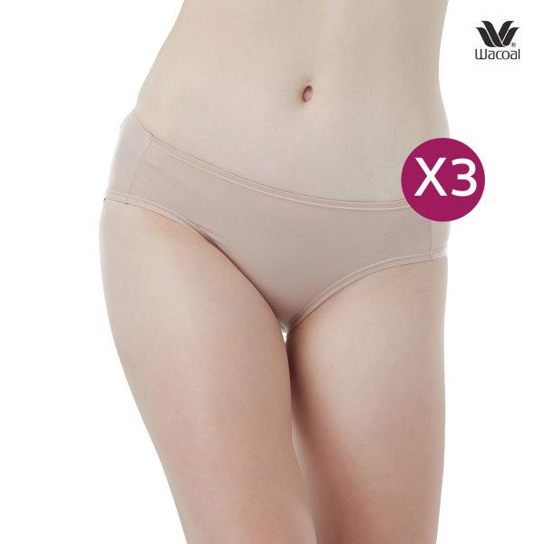 Wacoal Bikini Panty กางเกงในรูปแบบบิกินี่ เซ็ต 3 ชิ้น รุ่น WU2459 สีเบจ (BE)