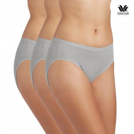 Wacoal Bikini Panty Set 3 ชิ้น รุ่น WU1M01,WQ6M01 สีเทา (GY)
